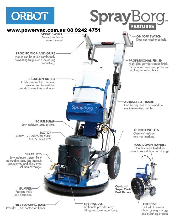 Orbot Orbital Floor Scrubbing Machine Powervac Cleaning