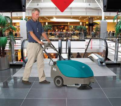 Tennant S5 Battery Sweeper Powervac Cleaning Equipment