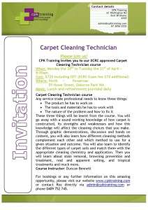 Carpet Cleaning Technician April 2015