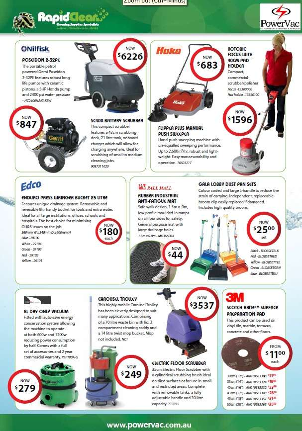 PowerVac Rapid Clean Specials for March-April 2015
