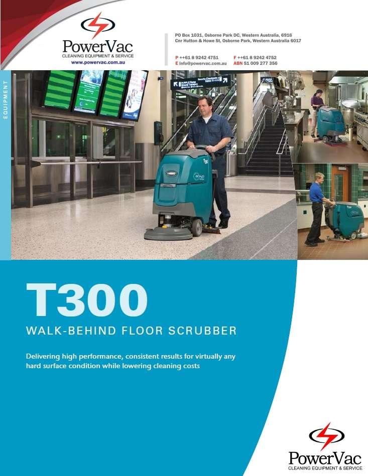 Tennant T300 scrubber brochure - Thumbnail