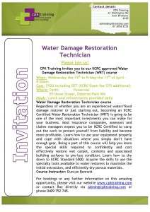 Water Damage Restoration Technician April 2015