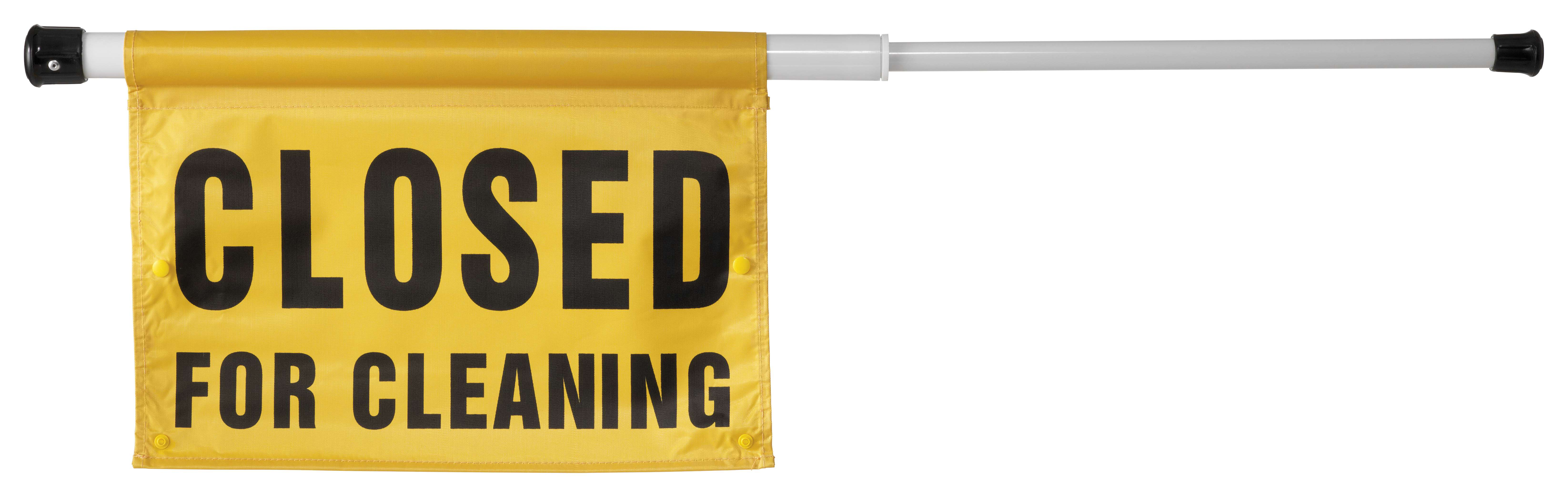 Spring Loaded Caution Sign Powervac Cleaning Equipment