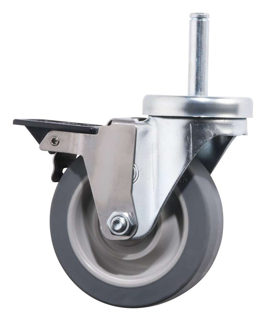 Powervac Cleaning Equipment: Platinum Janitors Cart Replacement Front Wheel