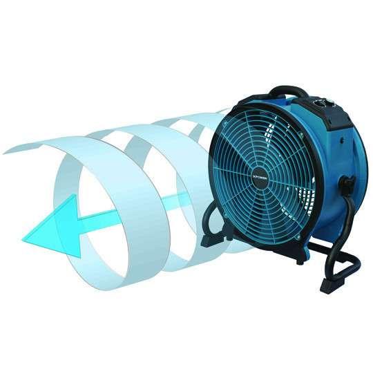 Axial Air Mover : X atr watt turbo pro axial air mover powervac