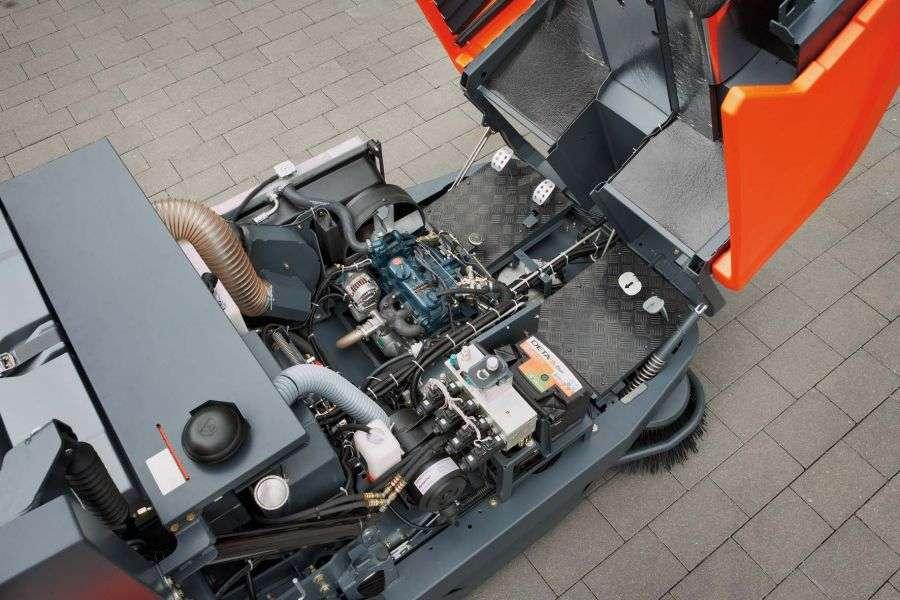 Hako Sweepmaster B1500r Ride On Sweeper Powervac
