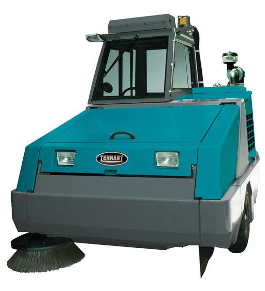 Tennant 800 Large Industrial Ride On Sweeper Powervac