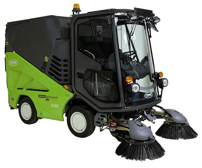 Tennant Green Machine 636 Sweeper Powervac Cleaning