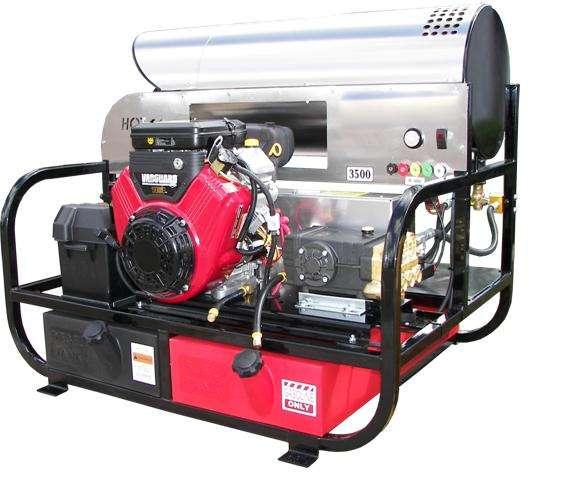 Kerrick Pro Super Skid Hot Water Pressure Washer on Honda Gx630 Control Panel